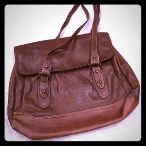 Handbags - Brown leather handbag